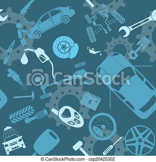 car, seamless, serviço, padrões - csp20425302