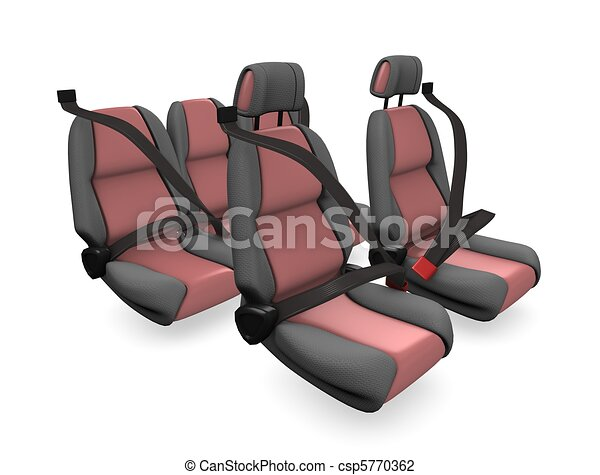 Car Seat 3d Illustration Concept Image Family Isolated