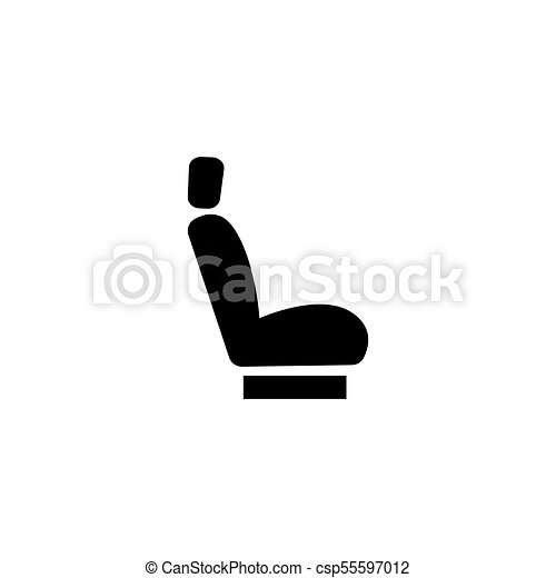 Car Seat Flat Vector Icon