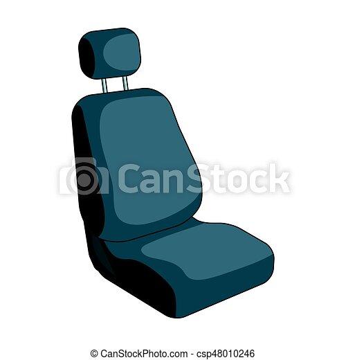 Car Seatcar Single Icon In Cartoon Style Vector Symbol Stock Illustration Web