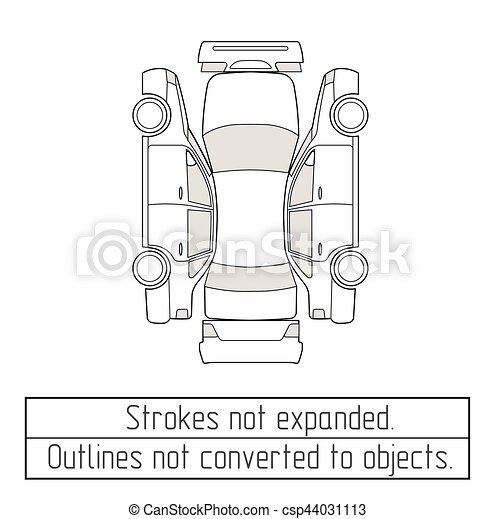 Car sedan drawing outlines not converted to objects. Car sedan ...