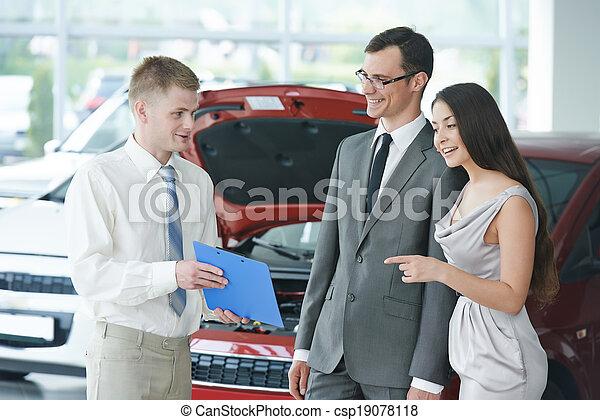 Car selling or automobile rental - csp19078118