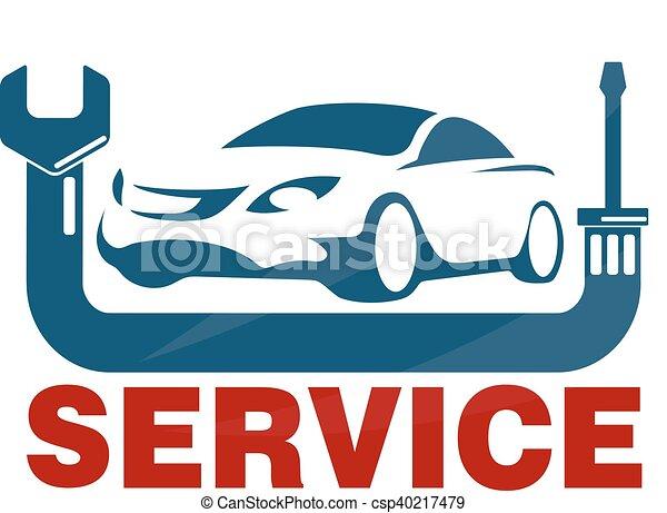 car service business emblem repair tool vectors illustration rh canstockphoto com vehicle repair log spreadsheet vehicle repair log template