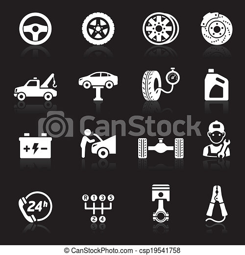 Car service icon set1.  - csp19541758