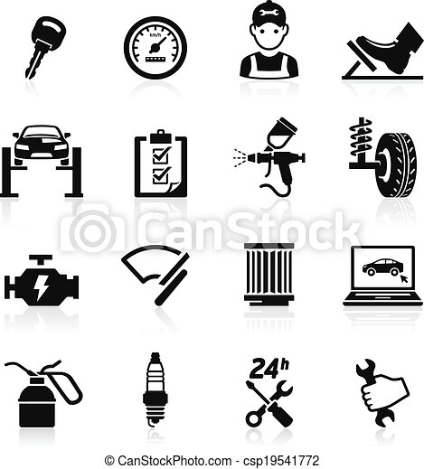 Car service icon set2.  - csp19541772