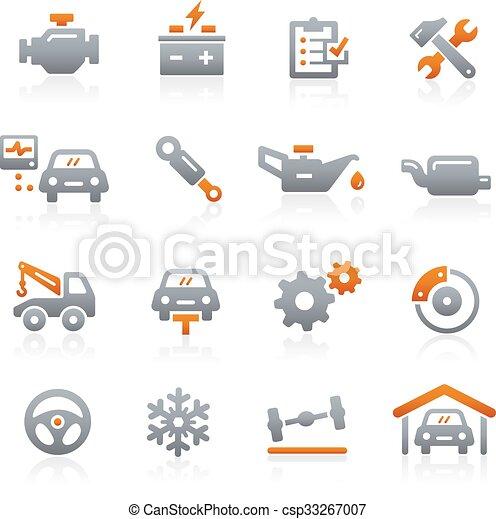 Car Service Icons - Graphite Series - csp33267007