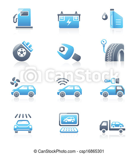 Car service icons | MARINE series - csp16865301