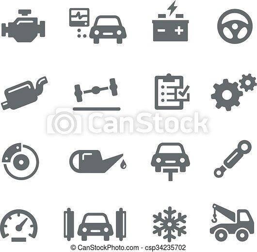 Car Service Icons - Utility - csp34235702