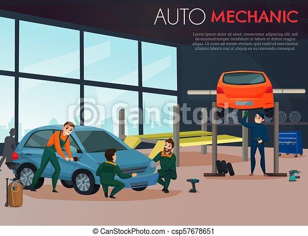 Car Service Illustration - csp57678651