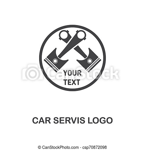 Car Servis Logo creative icon. Simple element illustration. Car Servis Logo concept symbol design from car parts collection. Can be used for web, mobile, web design, apps, software, print. - csp70872098