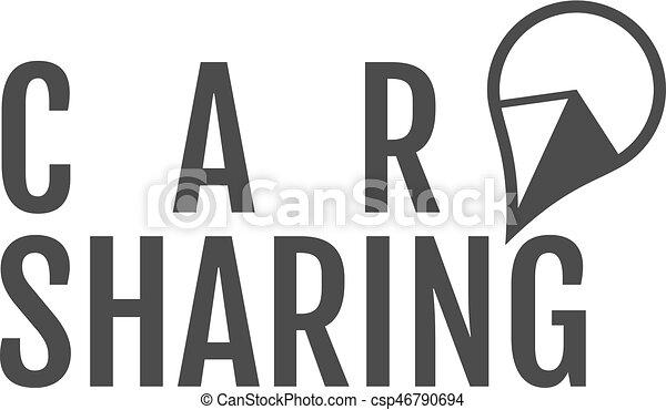 Car Share Logo Design Car Sharing Or Rental Car Concept Use For Webdesign Or Print Monochrome Design
