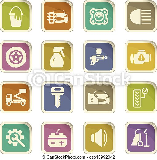 Car Shop Icons Set Car Shop Icon Set For Web Sites And User Interface