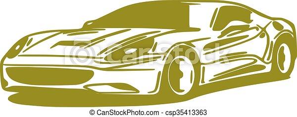 Car, silhouette - csp35413363
