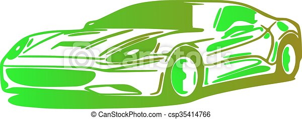 Car, silhouette - csp35414766