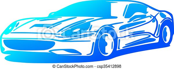 Car, silhouette - csp35412898