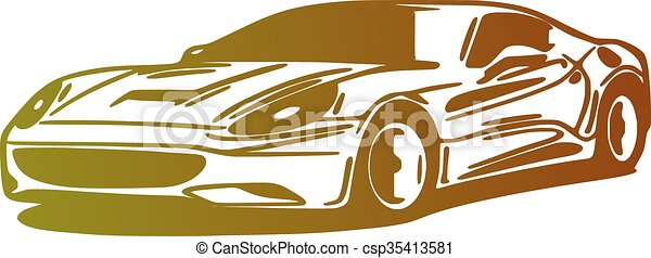 Car, silhouette - csp35413581