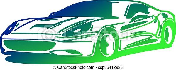 Car, silhouette - csp35412928