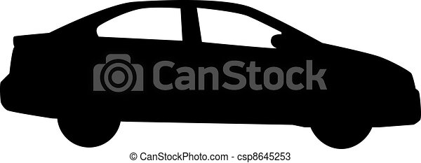 Car silhouette isolated on white - csp8645253
