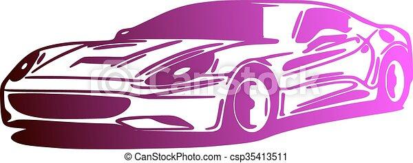 Car, silhouette - csp35413511