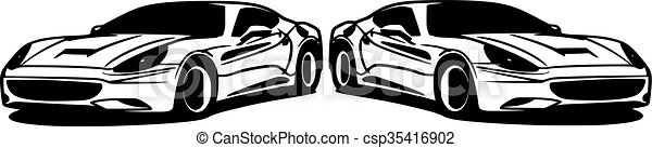 Car, silhouette - csp35416902
