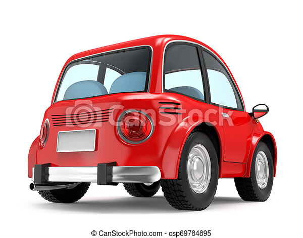car small cartoon back - csp69784895
