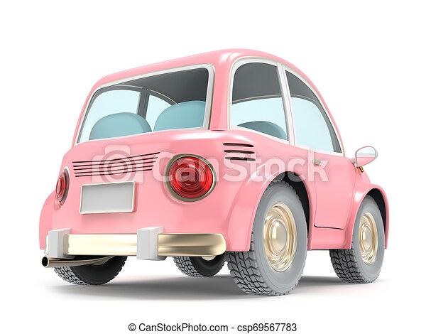 car small cartoon pink back - csp69567783