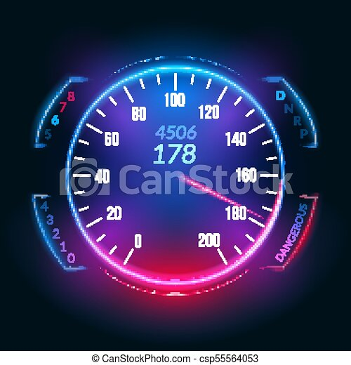 car speedometer dashboard icon speed meter fast race technology