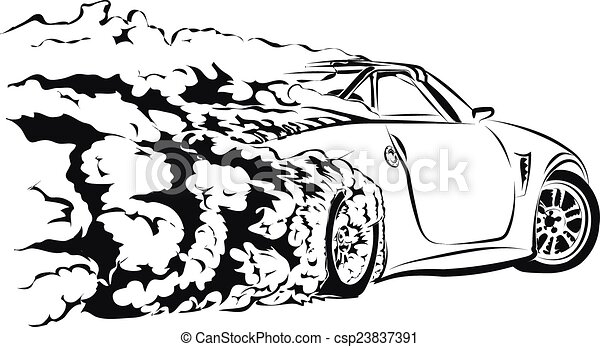 car sport drift - csp23837391