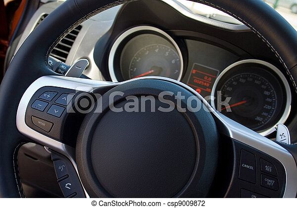 car steering wheel and instrument panel - csp9009872