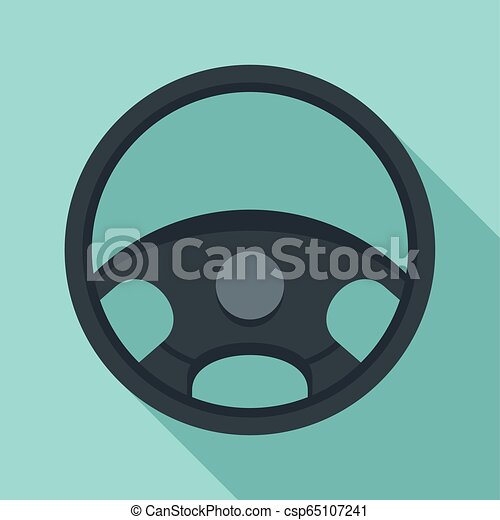 car steering wheel icon flat style car steering wheel icon flat illustration of car steering wheel vector icon for web can stock photo
