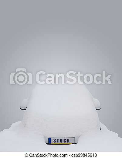 Car stuck in snow - csp33845610