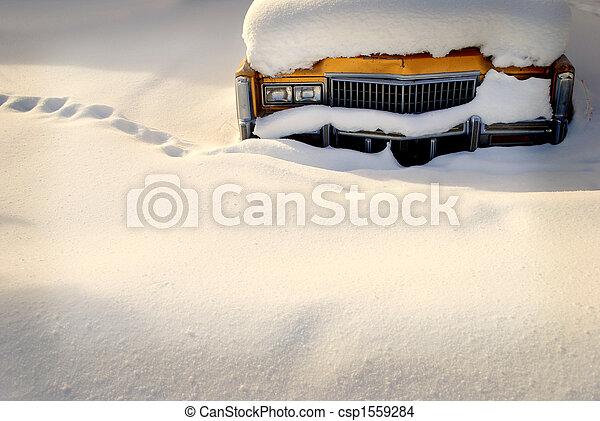 Car Stuck in Snow - csp1559284