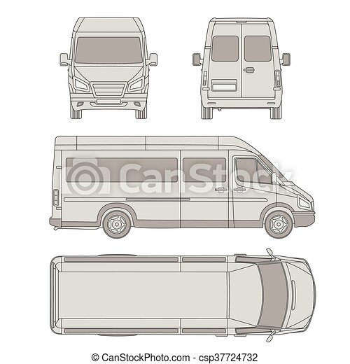 Car template commercial vehicle delivery van blueprint drawing car template commercial vehicle delivery van blueprint drawing proection all malvernweather Image collections