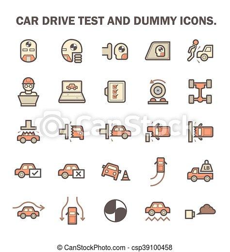 Car Test Icon - csp39100458