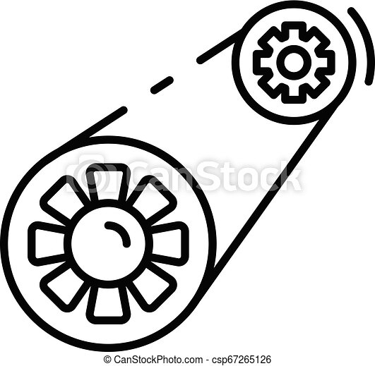 Car Timing Belt >> Car Timing Belt Icon Outline Style