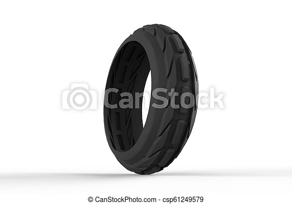 Car tire 3D rendering - csp61249579