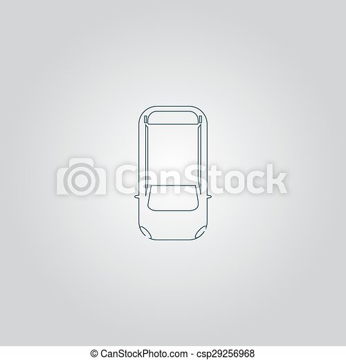 Car Top View Simple Car Top View Flat Web Icon Or Sign Isolated