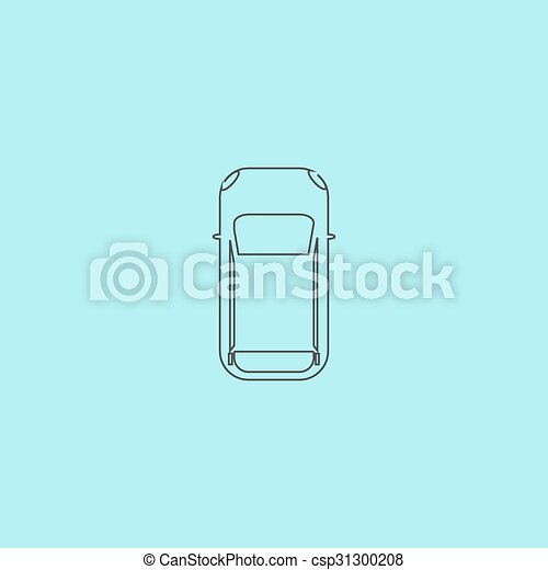 Car Top View Vector