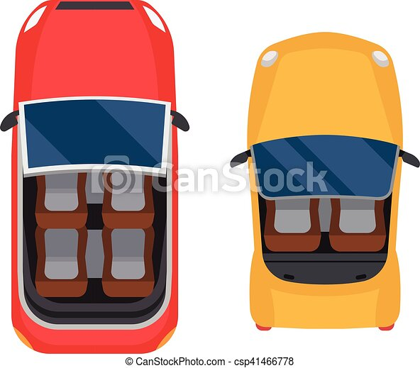 Car Top View Vector Isolated Vector Cars Icon Isolated From Above