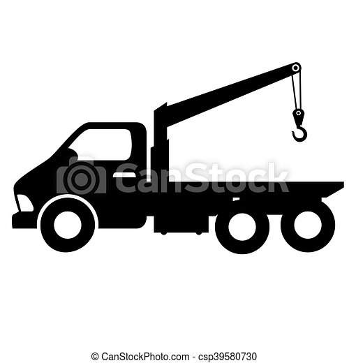 Car Towing Truck Silhouette Car Towing Truck Tow Service Vectors