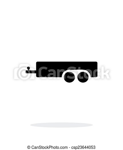 Car trailer simple icon on white background. - csp23644053
