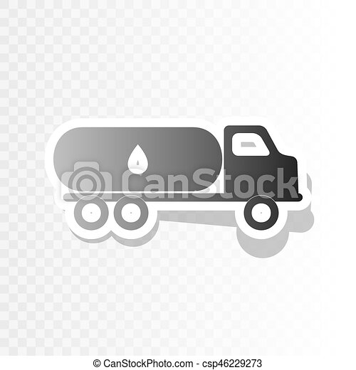 Car Transports Oil Sign Vector New Year Blackish Icon On