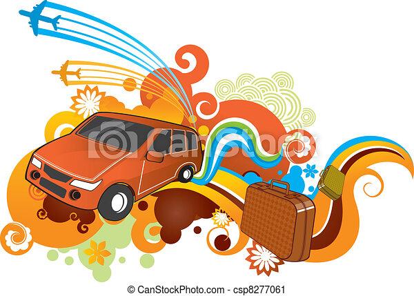 car travel - csp8277061