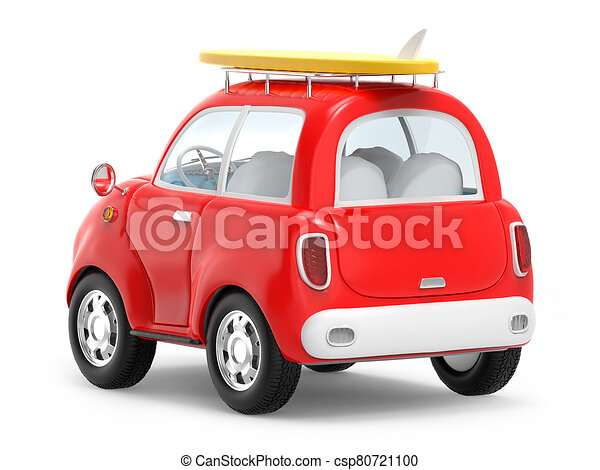 car trip with surfboard back - csp80721100