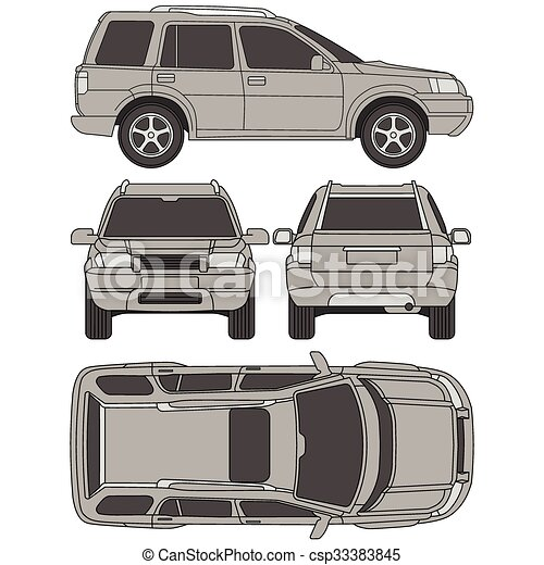 Car truck suv 4x4 line draw rent damage condition eps vector car truck suv 4x4 line draw rent damage condition report form malvernweather Images