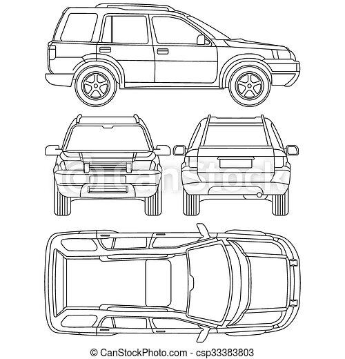 Car truck suv 4x4 line draw rent damage condition report form car truck suv 4x4 line draw rent damage condition report form malvernweather Choice Image