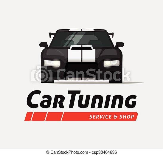 Car Tuning Shops Near Me >> Car Tuning Shop Vector Banner Sticker Auto Service Centre Logo