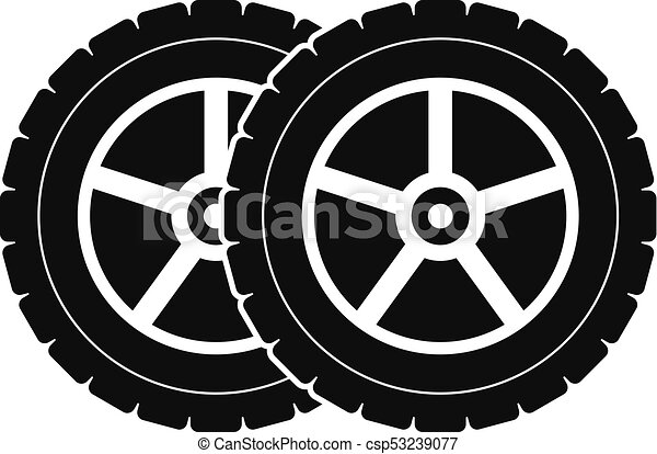 65b71f22b164ad Car tyre icon, simple style. Car tyre icon. simple illustration of ...