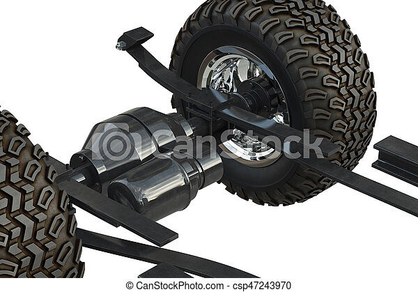 Car Underbody Chassis Close View