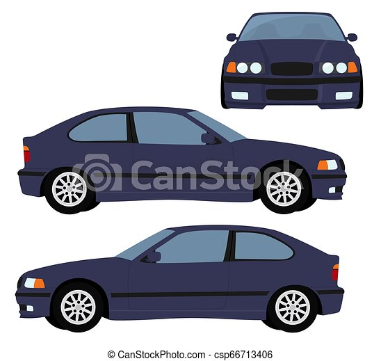 Car Vector Template On White Background Hatchback Car Isolated